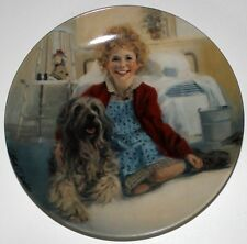 Will Chambers Annie and Sandy Collectors Plate w.Original Authenticity Certifica