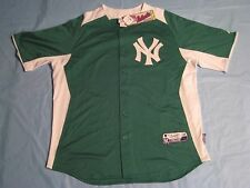 Majestic MLB Authentic New York Yankees St Patrick's Day Jersey Cool Base XL NEW
