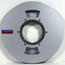 "AMPEX 1/2"" x 9"" COMPUTER STYLE Aluminum NAB TAPE REEL-12 SCREW HUB-SOLID BACK"