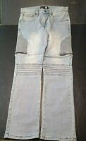 RSQ Mens Jeans London Skinny Size 32x32 Blue Cotton Stretch Zippers
