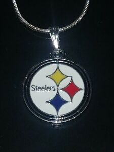 Pittsburgh Steelers Logo Pendant Necklace Sterling Silver Chain NFL Football