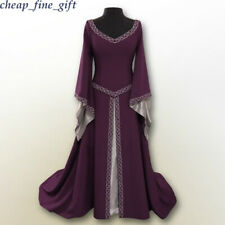 Halloween Cosplay Costumes Women Medieval Renaissance Fancy Maxi Princess Dress