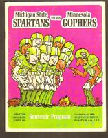 NOV 15 1969 MICHIGAN STATE vs MINNESOTA college football program