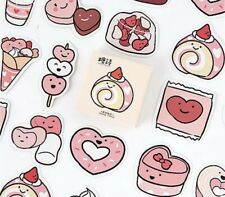 Kawaii Cake Cupcake Dessert Stickers Scrapbooking Heart Candy Sweets