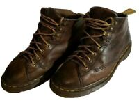 Dr Doc Martens 8088 ENGLAND Mens 7 US  Brown Leather Ankle Boots Womens 9