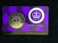 AUSTRALIA 2012 ROYAL COLLECTION JUBILEE 50c CENTS UNC COIN ON CARD