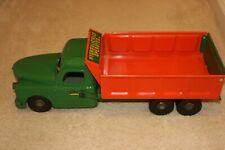 RARE 1940s Structo 250 GREEN Orange HYDRAULIC LIFT DUMP TRUCK NEAR MINT