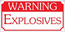 Warning Explosives- 6x12 Vintage Safety Man Cave Bar sign