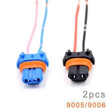 2x Universal 9005 9006 H10 Adapter Wiring Harness Socket for Headlight Fog Light