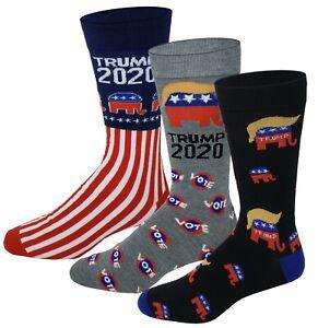Donald Trump 3 Pairs 2020 Dress Socks, Make Keep America Great again Republican