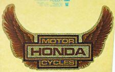 Original Vintage Honda Motorcycles Wings Iron On Transfer Glitter