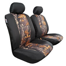 Camouflage Canvas Car Seat Cover Front Set For Toyota Hilux Dual Cab
