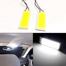 2Pcs Xenon 36COB 12V LED Dome Map Light Bulbs Car Interior Panel Lamp White
