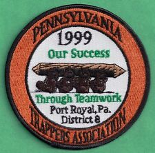 Pa Game Fish Commission Pennsylvania Trappers Association 1999 District 8 Patch