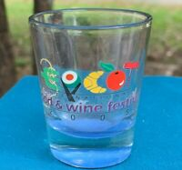 VERY RARE Collectible 2005 Epcot Center Food & Wine Festival Shot Glass Disney