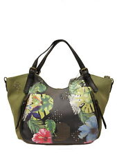 Schicke Desigual Handtasche Tasche Bols Lilac Rotterdam Kaki Bunt, NEU