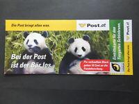 Österreich 2003 - Pandablock Ersttag Sonderedition Schönbrunn RRR - lesen (031)