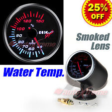 "DRIFT AUTO Gauge Meter 60mm/2.4"" SMOKED Lens WHITE Light RED Needle WATER TEMP."