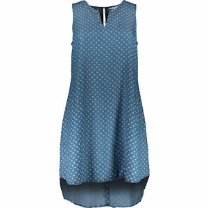 NEW FLOWING TENCEL HEART DENIM SUMMER TUNIC DRESS 24 HOLIDAY £90 US DESIGNER