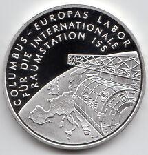 10 Euro Gedenkmünze Columbus-Int. Raumstation 2004 Polierte Platte Silber 925/-
