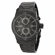 JBW Strider J6263C Men's Black Ion-Plaited Stainless Steel Swiss Watch MRSP $850