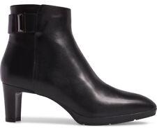 NIB Aquatalia Daniella Weatherproof Black Leather Ankle Bootie Size 10 Side Zip