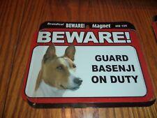 Beware Guard Basenji On Duty Magnet