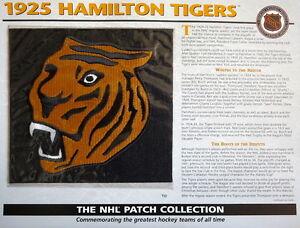 WILLABEE & WARD ~ NHL THROWBACK HOCKEY PATCH & INFO CARD ~ 1925 HAMILTON TIGERS