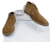Steve Madden Hacksaw 215 Chukka Suede Leather Boots Tan Brown Men's Size 9.5