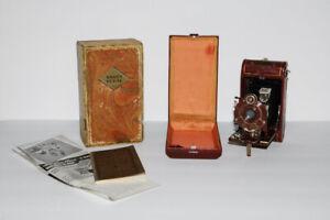 Vtg. Red Burgundy Kodak Vanity Vest Pocket Series III Camera Manual Original Box