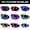 Motorcycle Motocross ATV Dirt Bike Off Road Anti-UV Dust Racing Goggles Glasses