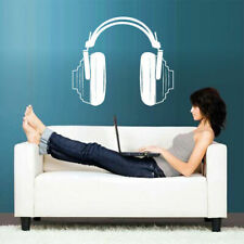 Wall Decal Vinyl Sticker Headphones Music Notes Beats Audio Cord Relax z2660