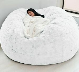 7ft Microsuede Foam Giant Bean Bag Lazy Sofa only Cover Memory for Living Room