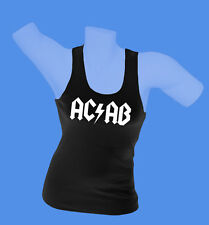 Girlie Damen Tanktop Hemd Shirt AC/AB Polizei Streetfight Hool schwarz S