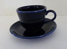 Homer Laughlin China Fiestaware Cup and Saucer Cobalt Blue Fiesta Ware