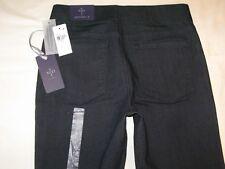 NYDJ Leggings Skinny Jeans w Lift Tuck Dark Distressed USA Sz 2 EUR 32 NEW
