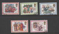 GB 1982 Christmas fine used set stamps