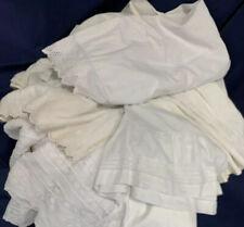 Vintage Petticoats Slips Cotton White Antique Victorian Original Skirts Lot Of 6