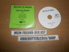 CD Pop Silvio D'Anza - Liebe ohne Grenzen (1 Song) Promo PALM REC