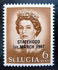 St LUCIA 1967 Statehood 6c OPT in Black Instead of Red U/M SALE PRICE BN1007