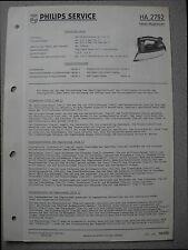 Philips HA2752 Dampf-Bügeleisen Service Manual Ausgabe 10/60