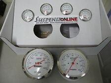 dolphin gauges 6 gauge set white truck mechanical fuel oil temp volt speedo tach