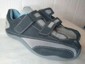 Specialized Shoes Women's Sonoma Road Bike Cycling SPD Gray Blue Sz 38 7.5
