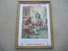 NOV 1938 THE ILLUSTRATED LONDON NEWS XMAS NUMBER THE 'NELSON TOUCH' ADV SHOWCARD