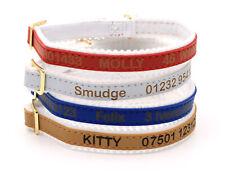 Personalised Custom Cat Kitten Collar | Design Your Unique Pet ID Tag | Engraved