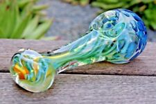 """4.5"""" Octopus Head Collectible Tobacco Glass Pipe Smoking Herb Bowl Hand Pipes"""
