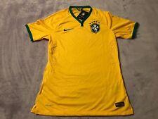 Nike Brazil Brasil CBF Home Jersey 2014 Yellow Green Men's M 575276