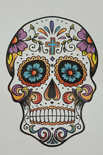 AWESOME SUGAR SKULL DIGITALLY PRINTED STICKER FOR CAR HOME OFFICE