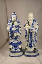 PAIRE PORCELAINE CHINOISE ANTIQUE CHINESE PORCELAIN FIGURES 19th c