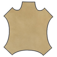 Tan Leather Hide, Fabric By The Yard